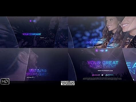 The Great Music Event | After Effects template - YouTube