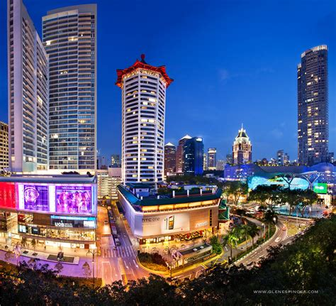 Orchard Road Singapore at Night | Orchard Road is a 2