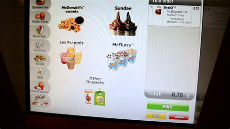 Ordering at a McDonald's Kiosk in France - YouTube