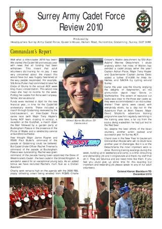 Surrey ACF Review 2010 by Adrian Paice - Issuu