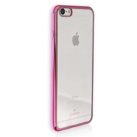 Handyhülle iPhone 6+ 6S+ pink Kunststoff Cover PU Case