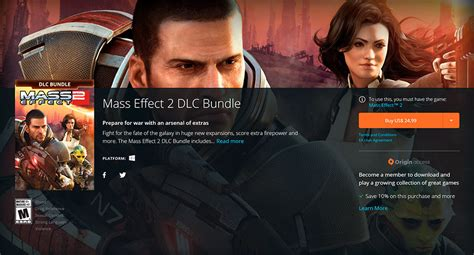 Mass Effect 2 and 3 DLC Bundles Now Available for Direct