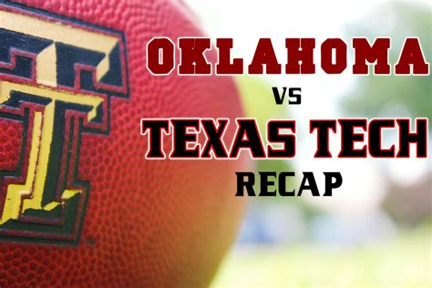Tech Offense Misfires In Loss As OU Pulls Away 63-27