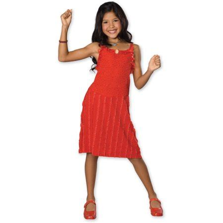 Child High School Musical Gabriella Red Dress Rubies