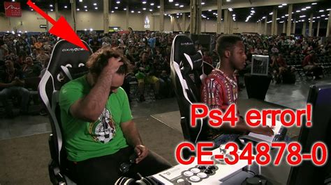 The famous PS4 error ce-34878-0 at EVO 2019 live