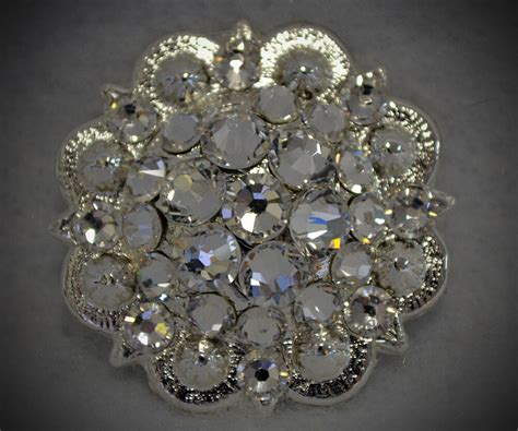 Crystal Berry Concho ~ Handcrafted with Clear Crystal