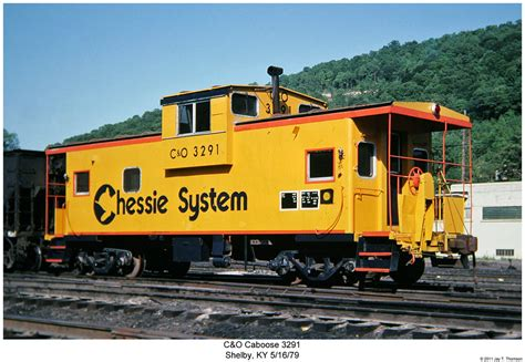 C&O Caboose 3291 | Reproduced 35mm Slide Photo shot by my