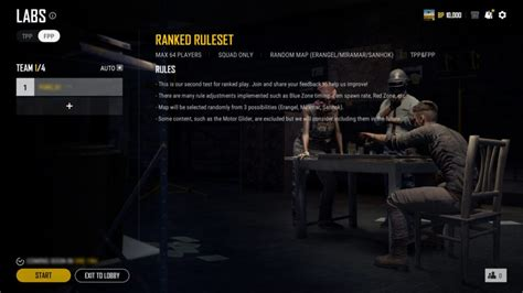 PUBG trials Ranked Ruleset for upcoming Ranked Matchmaking