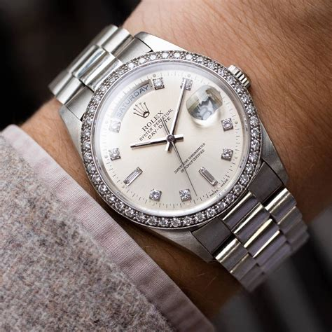 Rolex Day-Date 18346 'Factory-Set Diamonds & Platinum