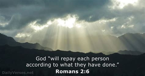 April 6, 2017 - Bible verse of the day - Romans 2:6