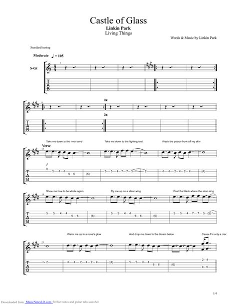 Castle Of Glass guitar pro tab by Linkin Park