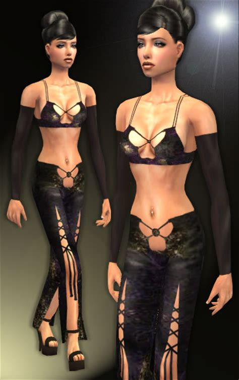 Mod The Sims - 3 black sexy outfits