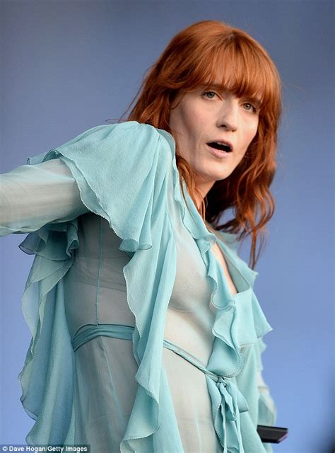 Florence Welch flashes bra at British Summer Time Festival