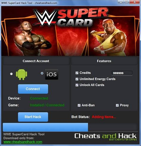 WWE SuperCard Hack Tool Credits + Energy Cards and All