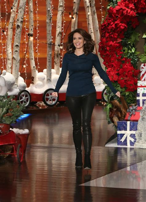 Lovely Ladies in Leather: Tina Fey in leather pants